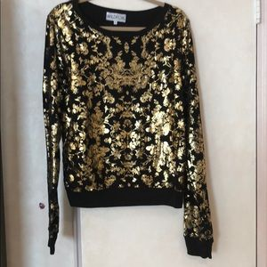 WILDFOX limited edition gold sweater